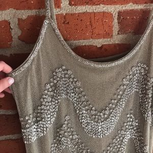 Never worn! Metallic sequin mini dress